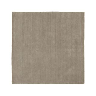 Baxter Light Grey Wool Rug 8' Square
