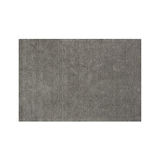 Baxter Grey Wool Rug 5'x8'