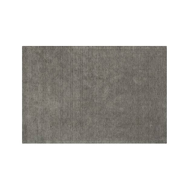 Baxter Grey Wool Rug 6 X9 Reviews Crate And Barrel