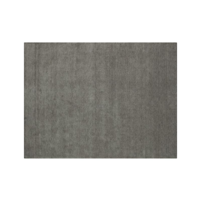 baxter grey wool rug 10 39 x14 39 reviews crate and barrel. Black Bedroom Furniture Sets. Home Design Ideas