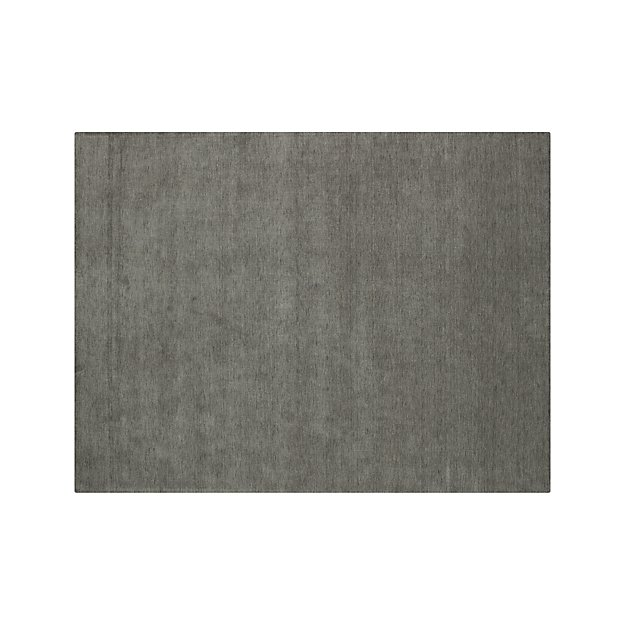 Baxter Grey Wool 9 X12 Rug Crate And Barrel