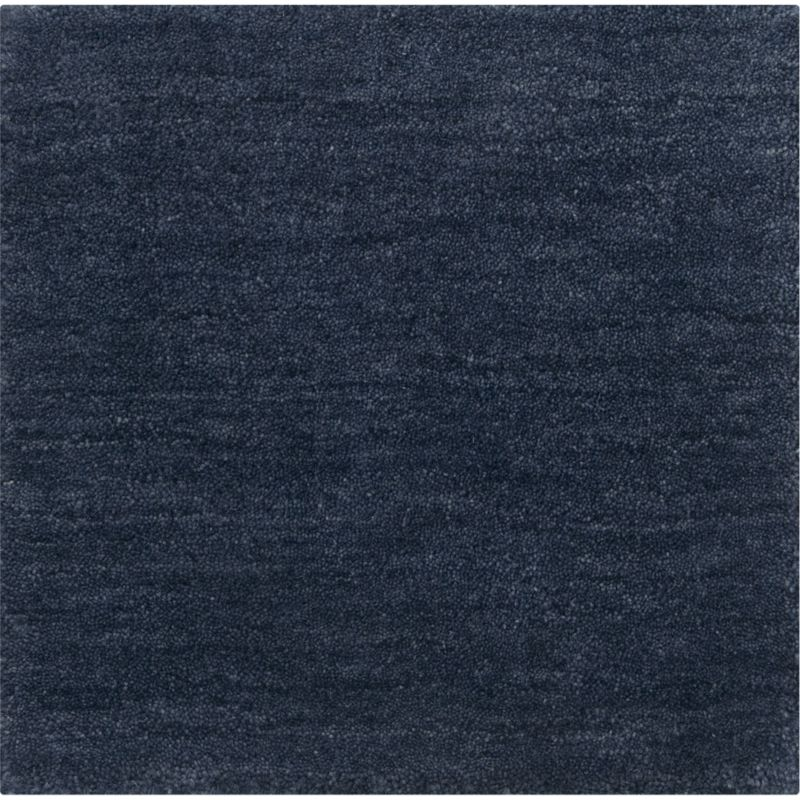 Baxter Indigo Wool 12 Quot Sq Rug Swatch In Area Rugs