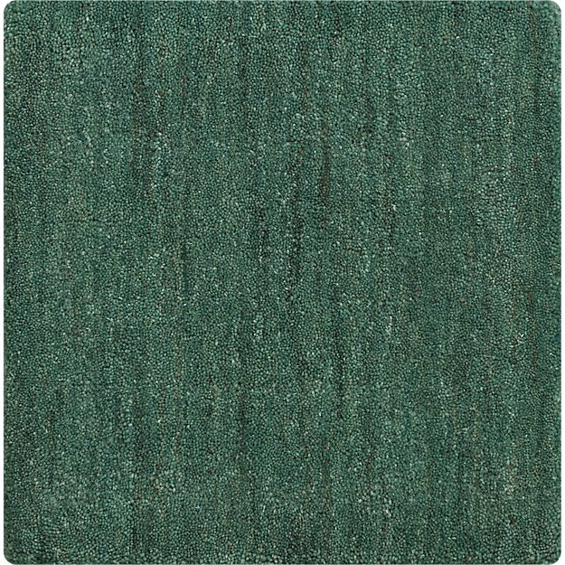 "Baxter Jade Green Wool 12"" Sq. Rug Swatch"