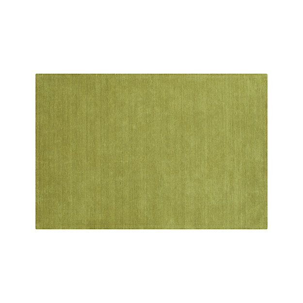 Baxter Lemongrass Light Green Wool Rug 5'x8'