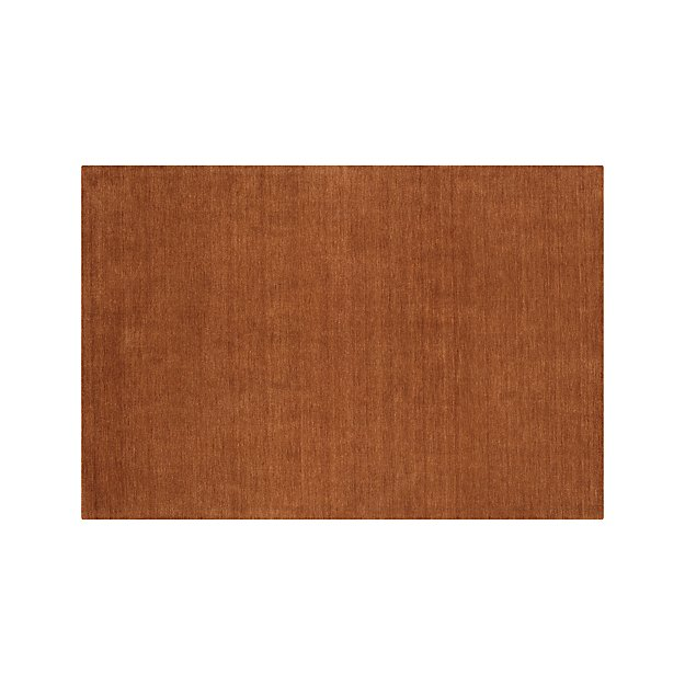 Baxter Marigold Orange Wool Rug 6 X9 Crate And Barrel