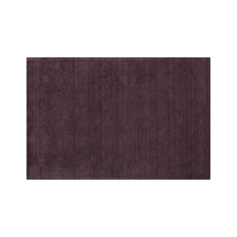 Baxter Plum Purple Wool 5x8 Rug - Crate and Barrel