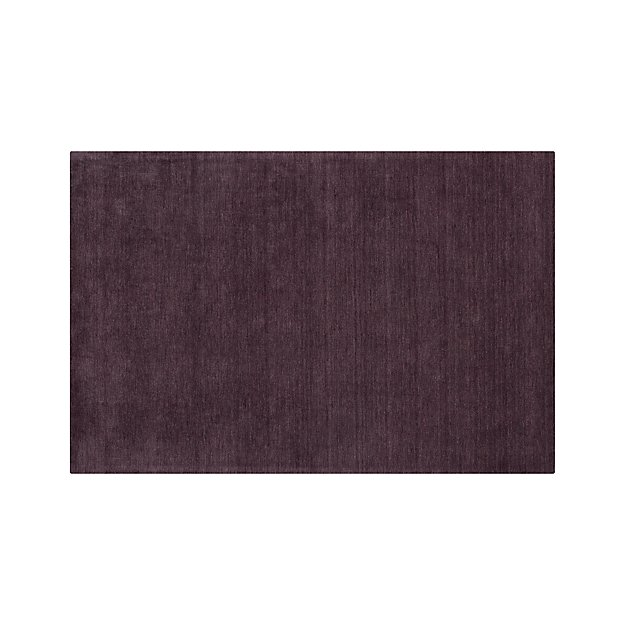 Baxter Plum Purple Wool 5x8 Rug