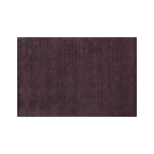 Baxter Plum Purple Wool Rug 5 X8 In Area Rugs Reviews