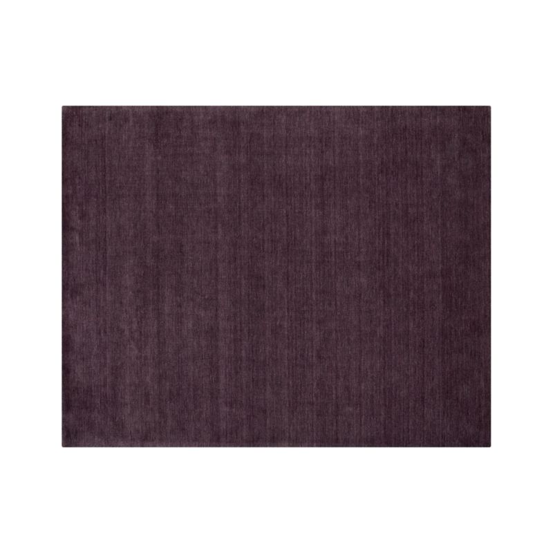 Baxter Plum Purple Wool 8 X10 Rug Crate And Barrel