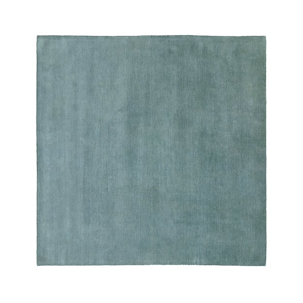 Baxter Seafoam Light Blue Wool Rug 8' Square