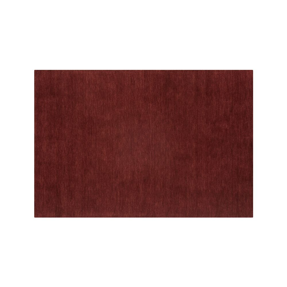 Baxter Wine Red Wool 6'x9' Rug - Crate and Barrel