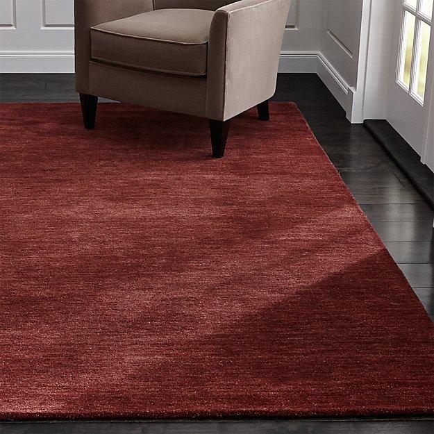Baxter Wine Red Wool Rug