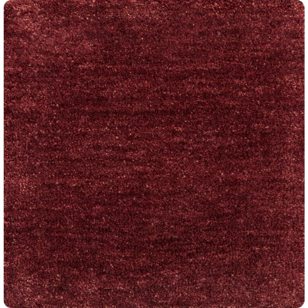 Baxter Wine Red Wool 12'x12' sq. Rug Swatch - Crate and Barrel