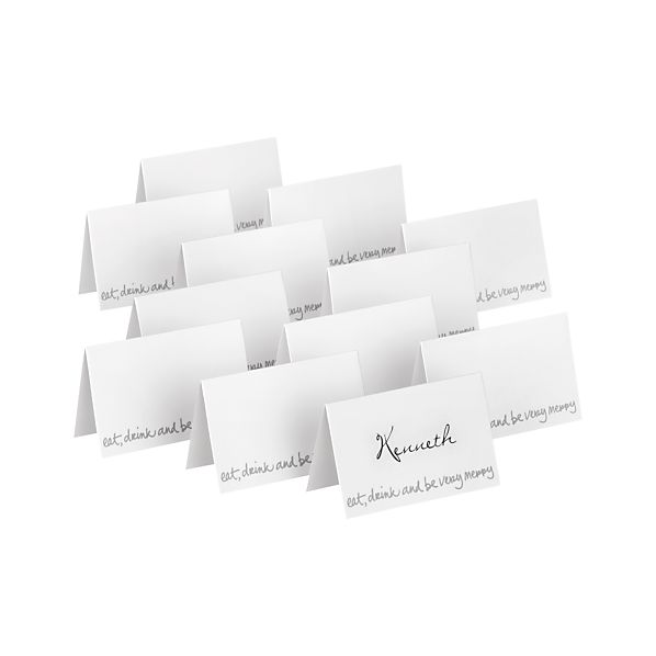 Set of 12 Be Very Merry Placecards