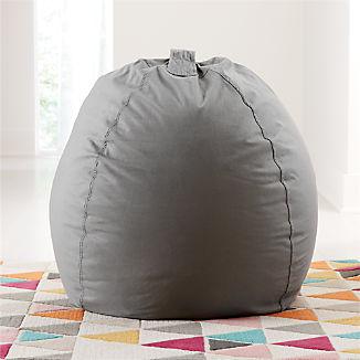 Large Grey Bean Bag Chair