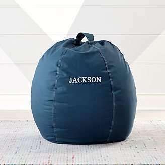 Small Dark Blue Bean Bag Chair Kids