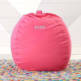 Large Dark Pink Bean Bag Chair kids & Kids Floor Pillows Bean Bag Chairs u0026 Poufs | Crate and Barrel