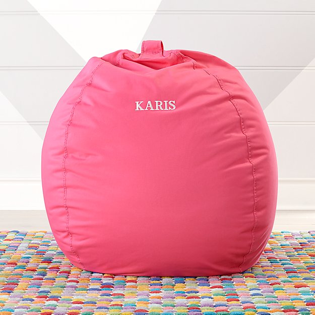 pink bean bag chair Large Dark Pink Bean Bag Chair + Reviews | Crate and Barrel pink bean bag chair