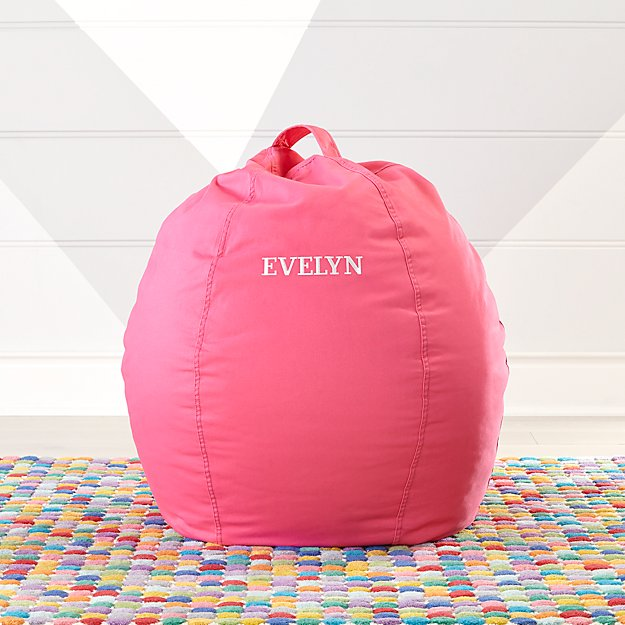 Small Dark Pink Bean Bag Chair + Reviews | Crate and Barrel