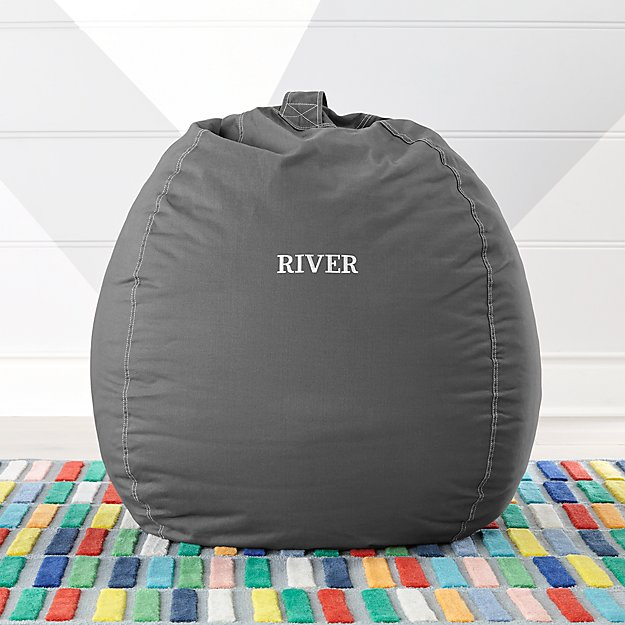 Large Grey Bean Bag Chair Reviews Crate And Barrel