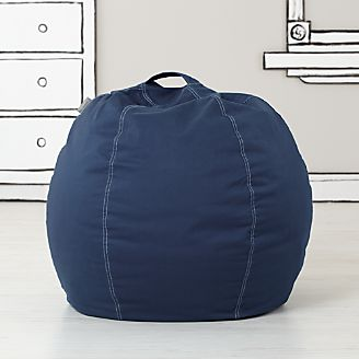small dark blue bean bag chair kids floor pillows bean bag chairs  u0026 poufs   crate and barrel  rh   crateandbarrel