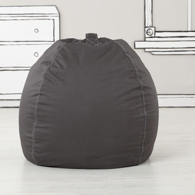 Large Grey Bean Bag Chair Reviews Crate And Barrel