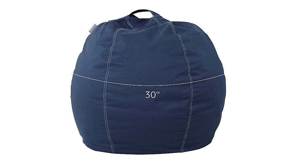 Small Dark Blue Bean Bag Chair Reviews Crate And Barrel