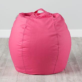 Small Dark Pink Bean Bag Chair