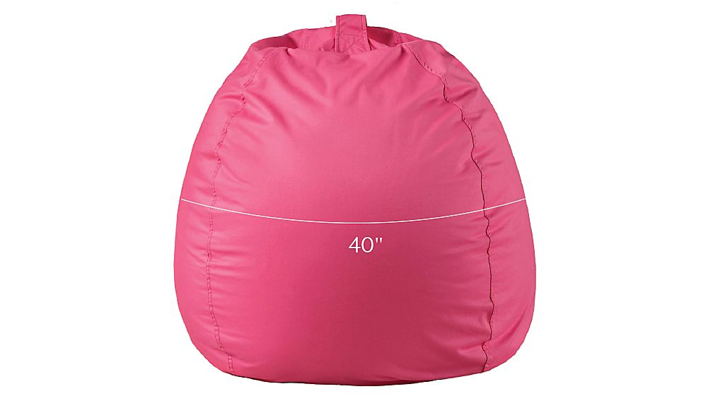 Tap To Zoom Image With Dimension For Large Dark Pink Bean Bag Chair Cover