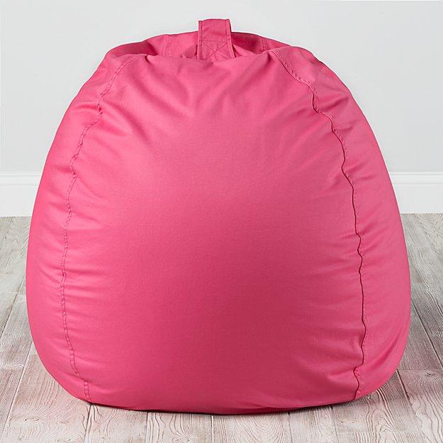 Large Dark Pink Bean Bag Chair Reviews Crate And Barrel