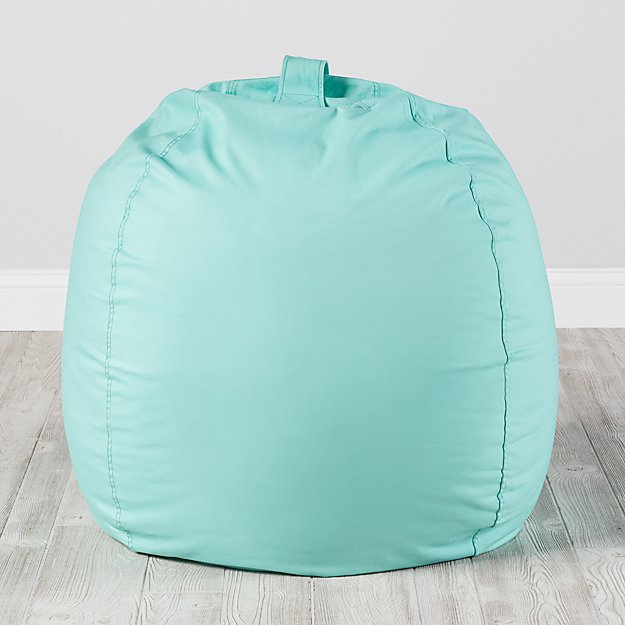 & Large Mint Bean Bag Chair Cover + Reviews | Crate and Barrel