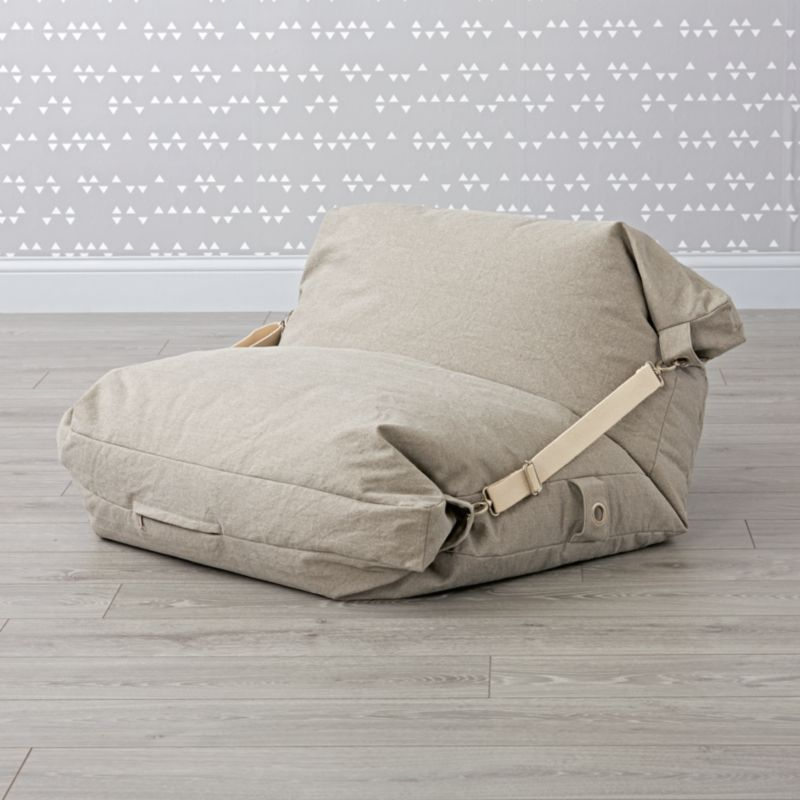 Adjustable Grey Bean Bag Chair Reviews Crate And Barrel