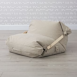 Adjule Grey Bean Bag Chair