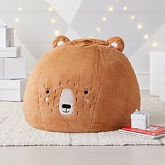 Small Furry Bear Bean Bag Chair Kids