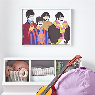 Beatles Portrait Framed Canvas Wall Art Kids