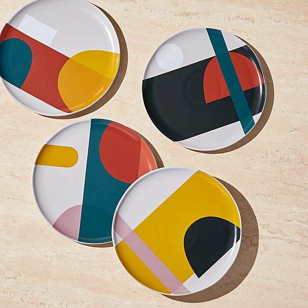 Beatriz Salad Plates, Set of 4 - Image 1 of 5