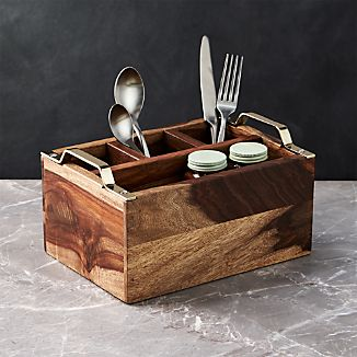 Beck Gold Flatware Caddy
