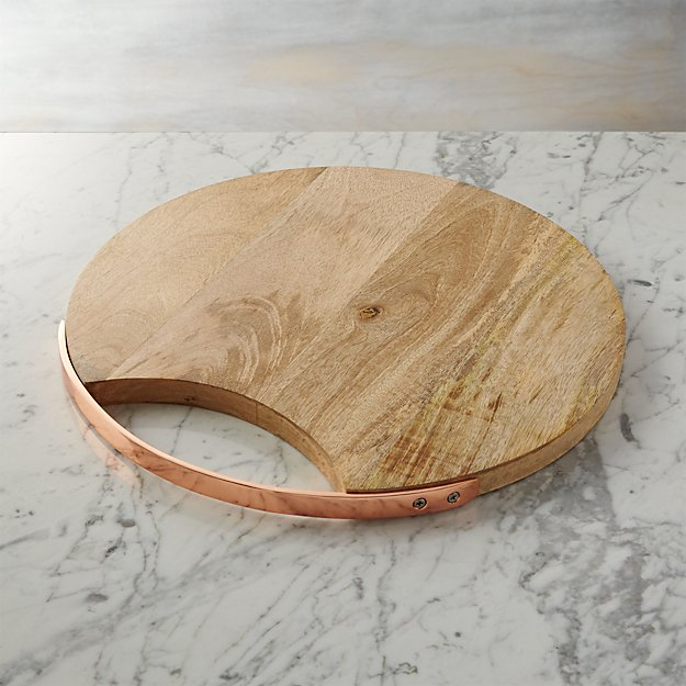 Wooden Cheese Boards ~ Round wooden cheese board crate and barrel