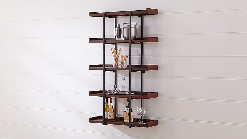 "Beckett 36"" 5-Tier Wall Shelf Sable - Image 1 of 4"
