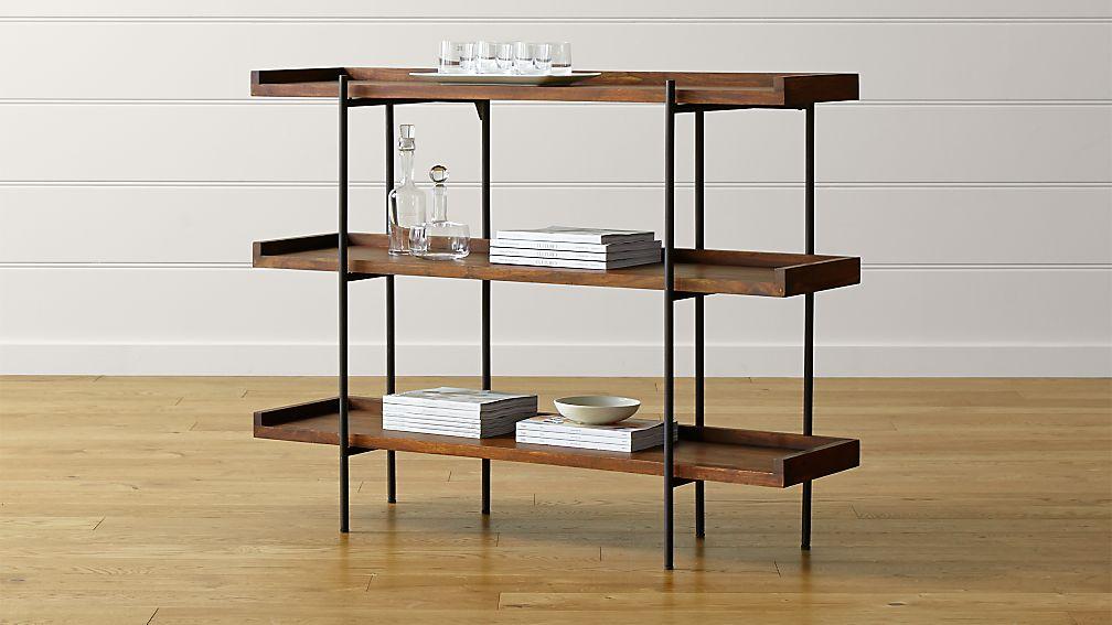 beckett 3 high shelf sable reviews crate and barrel. Black Bedroom Furniture Sets. Home Design Ideas