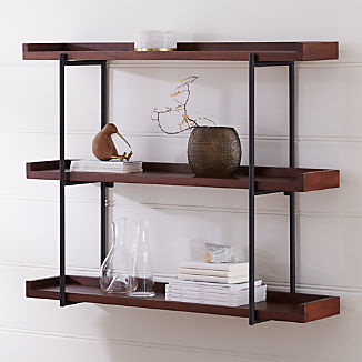 "Beckett 48"" 3-Tier Wall Shelf Sable"