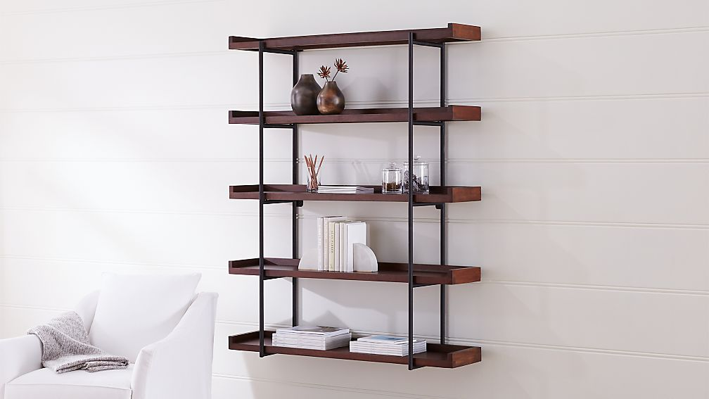 "Beckett 48"" 5-Tier Wall Shelf Sable - Image 1 of 4"