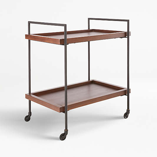 Beckett Sable Rolling Bar Cart