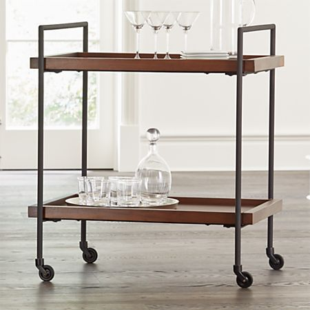 Fine Beckett Sable Rolling Bar Cart Download Free Architecture Designs Scobabritishbridgeorg