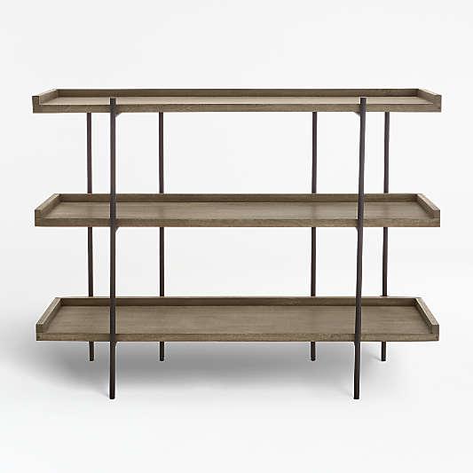 Beckett Grey Wash 3-High Shelf