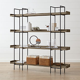 Beckett Grey Wash 4-High Shelf