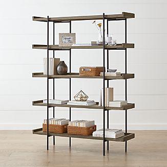 Beckett Grey Wash 5 High Shelf