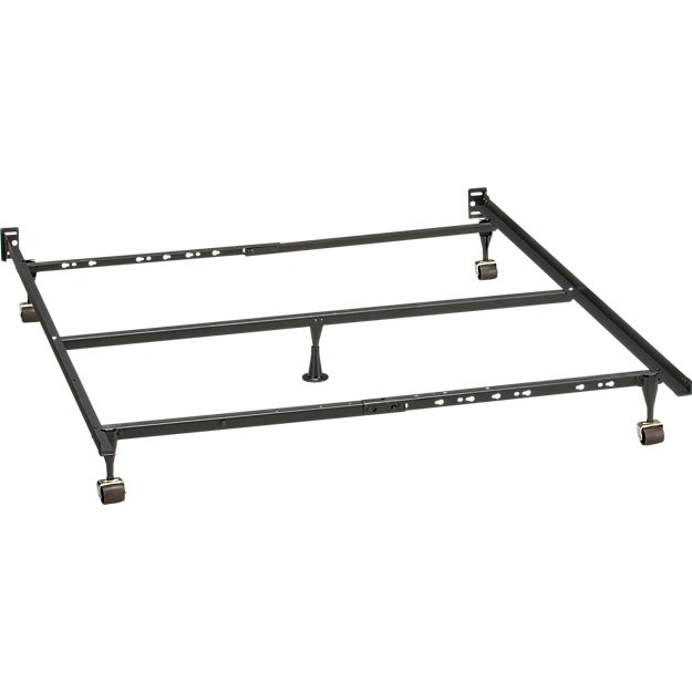 Metal Bed Frames Queen queen bed frame | crate and barrel