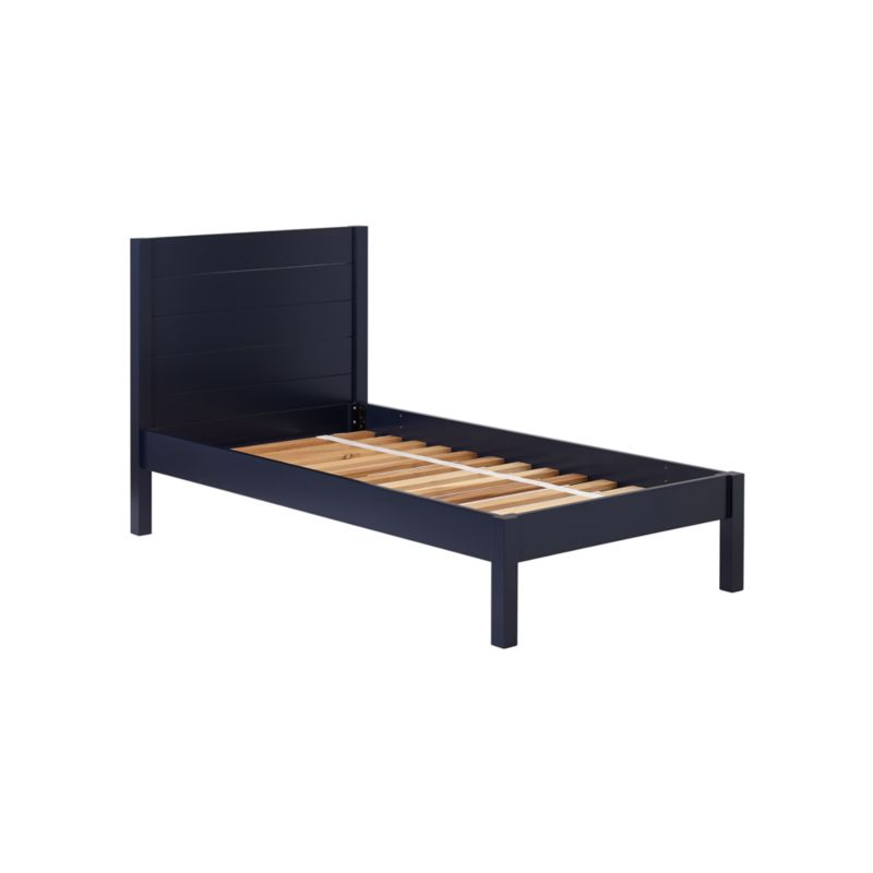 Uptown Navy Blue Bed by Crate&Barrel