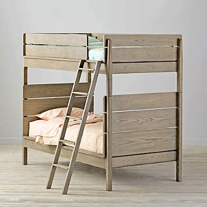 Kids Grey Twin Bunk Bed Reviews Crate And Barrel Canada